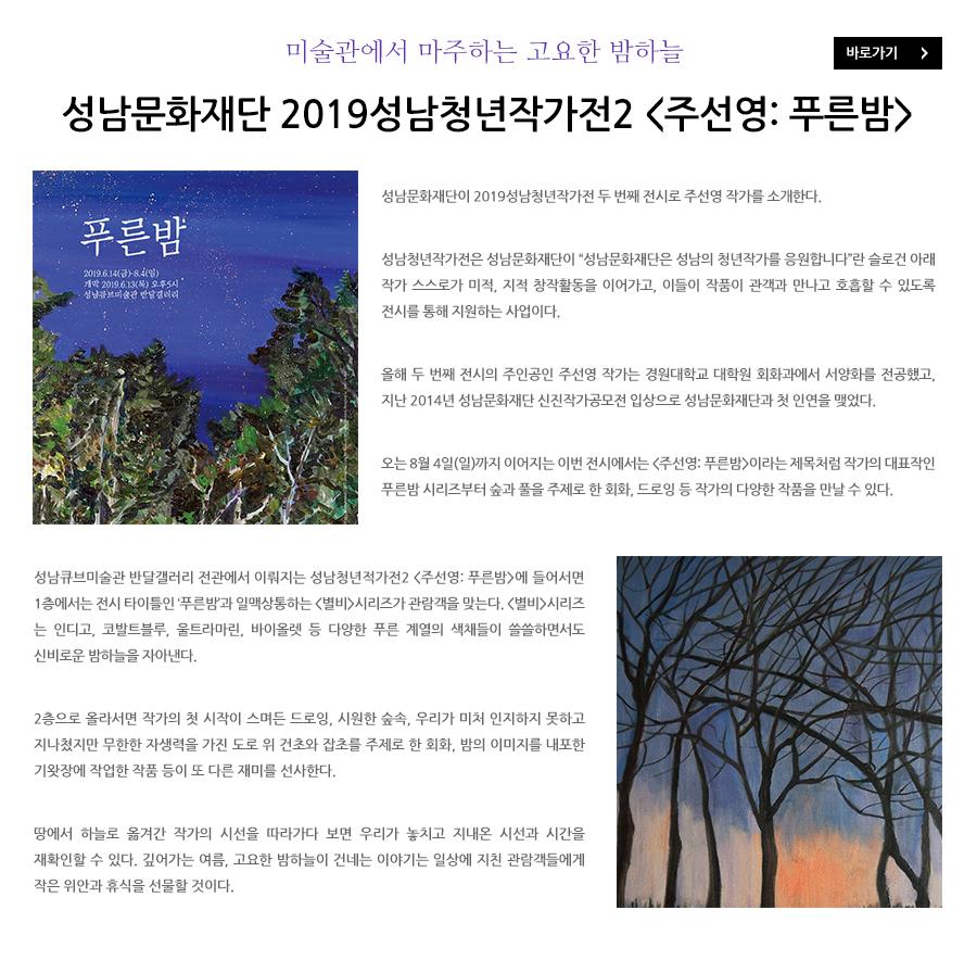 2019성남청년작가전2 주선영 푸른밤